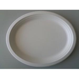 Talerz 31,8x25,5 cm,owalny, biały, 50szt.