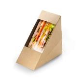Opakowanie KRAFT na kanapki z okienkiem