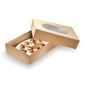 Box do transportu KRAFT z okienkiem